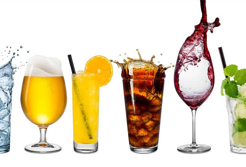 Getr nke aaria catering for Alkohol dekoration